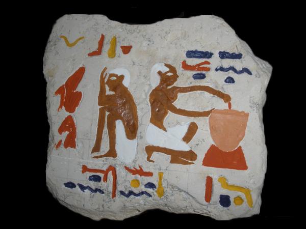 La fabrication et la cuisson du pain hiéroglyphes